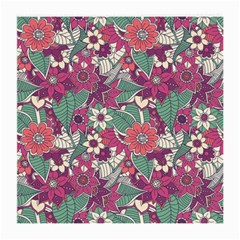 Seamless Floral Pattern Background Medium Glasses Cloth (2-Side)