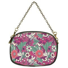 Seamless Floral Pattern Background Chain Purses (One Side)