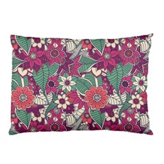 Seamless Floral Pattern Background Pillow Case