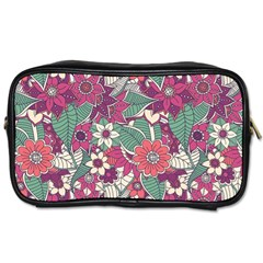 Seamless Floral Pattern Background Toiletries Bags 2-Side