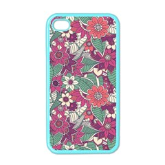 Seamless Floral Pattern Background Apple iPhone 4 Case (Color)