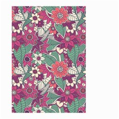 Seamless Floral Pattern Background Small Garden Flag (Two Sides)