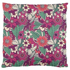 Seamless Floral Pattern Background Large Cushion Case (Two Sides)