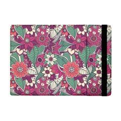 Seamless Floral Pattern Background Apple iPad Mini Flip Case