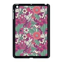 Seamless Floral Pattern Background Apple iPad Mini Case (Black)