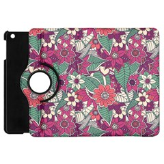 Seamless Floral Pattern Background Apple iPad Mini Flip 360 Case