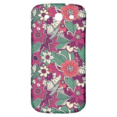 Seamless Floral Pattern Background Samsung Galaxy S3 S III Classic Hardshell Back Case