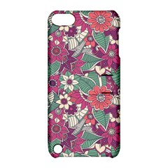 Seamless Floral Pattern Background Apple iPod Touch 5 Hardshell Case with Stand