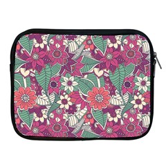 Seamless Floral Pattern Background Apple iPad 2/3/4 Zipper Cases