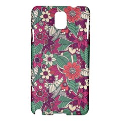 Seamless Floral Pattern Background Samsung Galaxy Note 3 N9005 Hardshell Case
