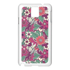 Seamless Floral Pattern Background Samsung Galaxy Note 3 N9005 Case (White)
