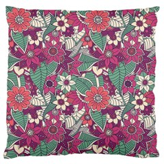 Seamless Floral Pattern Background Large Flano Cushion Case (Two Sides)