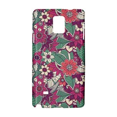 Seamless Floral Pattern Background Samsung Galaxy Note 4 Hardshell Case