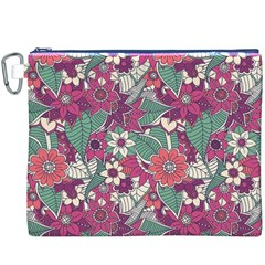 Seamless Floral Pattern Background Canvas Cosmetic Bag (XXXL)