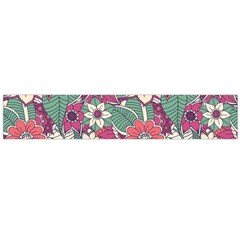 Seamless Floral Pattern Background Flano Scarf (Large)