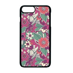 Seamless Floral Pattern Background Apple Iphone 7 Plus Seamless Case (black)