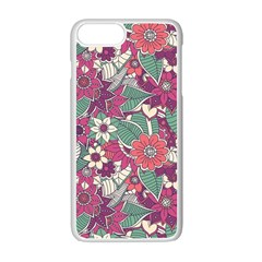 Seamless Floral Pattern Background Apple Iphone 7 Plus White Seamless Case