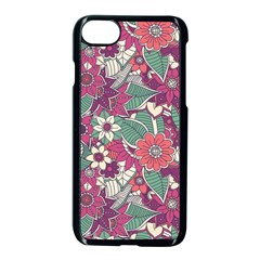 Seamless Floral Pattern Background Apple Iphone 7 Seamless Case (black)