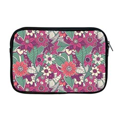Seamless Floral Pattern Background Apple Macbook Pro 17  Zipper Case