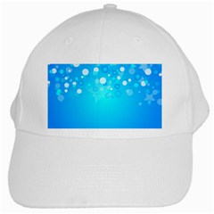 Blue Dot Star White Cap