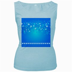 Blue Dot Star Women s Baby Blue Tank Top