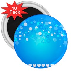 Blue Dot Star 3  Magnets (10 pack)