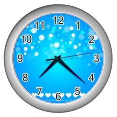 Blue Dot Star Wall Clocks (silver)