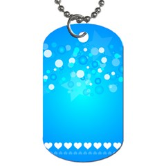 Blue Dot Star Dog Tag (one Side)
