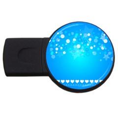 Blue Dot Star Usb Flash Drive Round (2 Gb)