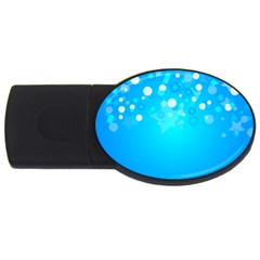 Blue Dot Star USB Flash Drive Oval (2 GB)