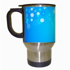 Blue Dot Star Travel Mugs (White)