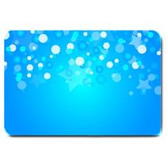 Blue Dot Star Large Doormat