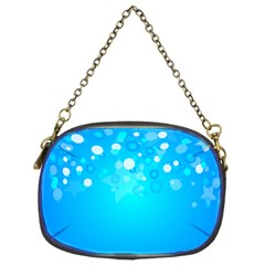 Blue Dot Star Chain Purses (two Sides)