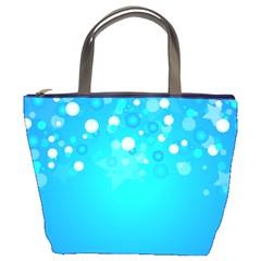 Blue Dot Star Bucket Bags