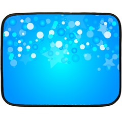 Blue Dot Star Fleece Blanket (mini)
