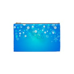 Blue Dot Star Cosmetic Bag (small)