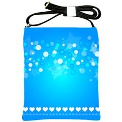 Blue Dot Star Shoulder Sling Bags