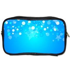 Blue Dot Star Toiletries Bags