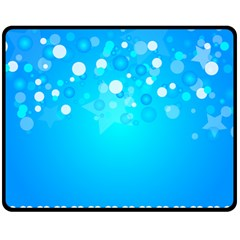 Blue Dot Star Fleece Blanket (medium)