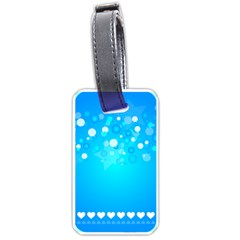Blue Dot Star Luggage Tags (one Side)