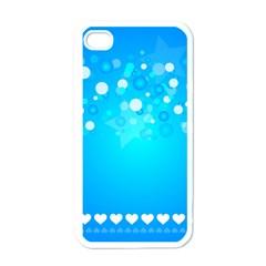 Blue Dot Star Apple iPhone 4 Case (White)