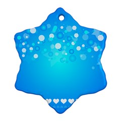 Blue Dot Star Ornament (snowflake)