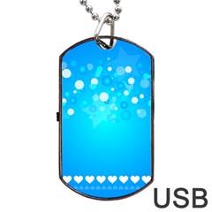 Blue Dot Star Dog Tag USB Flash (Two Sides)