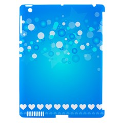 Blue Dot Star Apple iPad 3/4 Hardshell Case (Compatible with Smart Cover)
