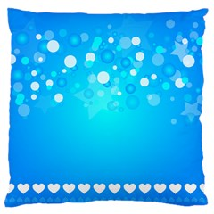 Blue Dot Star Large Cushion Case (One Side)
