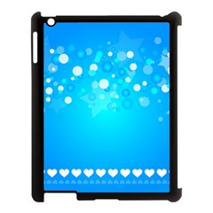 Blue Dot Star Apple iPad 3/4 Case (Black)