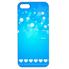 Blue Dot Star Apple iPhone 5 Hardshell Case with Stand