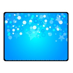Blue Dot Star Double Sided Fleece Blanket (Small)
