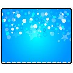 Blue Dot Star Double Sided Fleece Blanket (Medium)