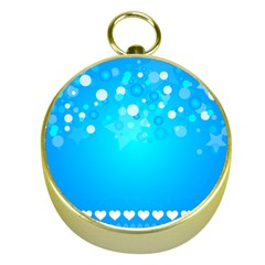 Blue Dot Star Gold Compasses